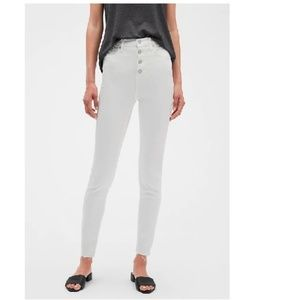 NWT BR High Rise Button Front Skinny Jeans 28 c493